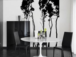 dekorieren in schwarz und wei ideen mit wandtattoos. Black Bedroom Furniture Sets. Home Design Ideas