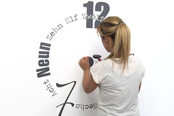 Wandtattoo Uhr Anbringen Anleitung Für Wandtattoo Uhren