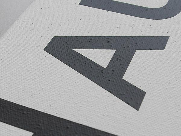 Detail Struktur Wandtattoo auf Leinwand