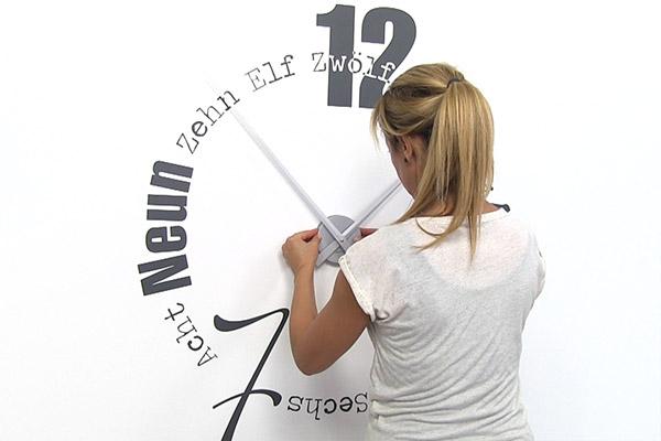 Wandtattoo Uhr Anbringen Anleitung Fur Wandtattoo Uhren