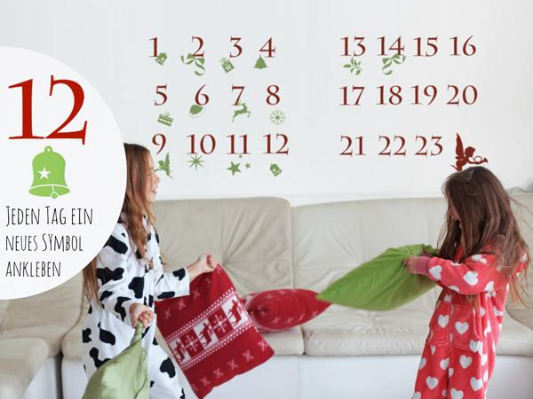wandtattoo adventskalender zum schenken behalten. Black Bedroom Furniture Sets. Home Design Ideas