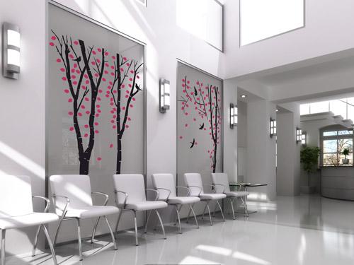 wandtattoo im amt b ro und flur gestalten mit wandtattoos. Black Bedroom Furniture Sets. Home Design Ideas