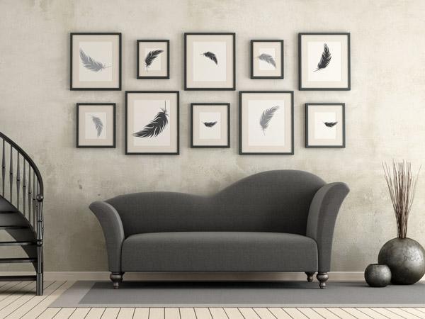 Wandtattoo im rahmen bilderrahmen kreativ bekleben - Wohnzimmer bilder mit rahmen ...