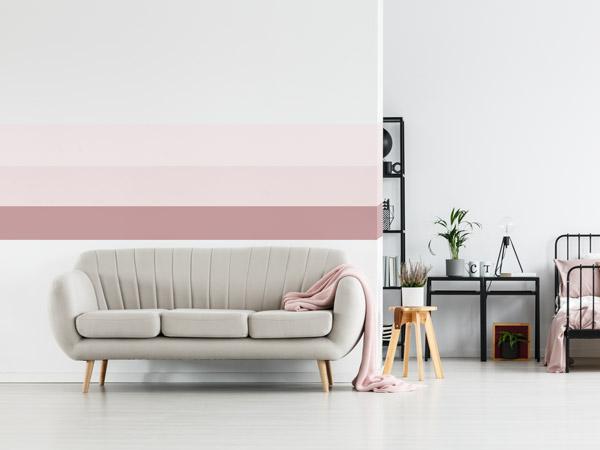 Bunte Streifen An Der Wand Pastellrosa