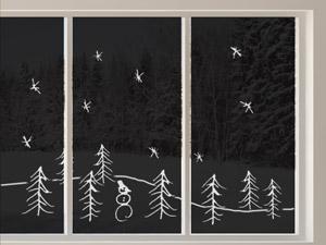 wandtattoos als selbstklebende fensterbilder zu weihnachten. Black Bedroom Furniture Sets. Home Design Ideas