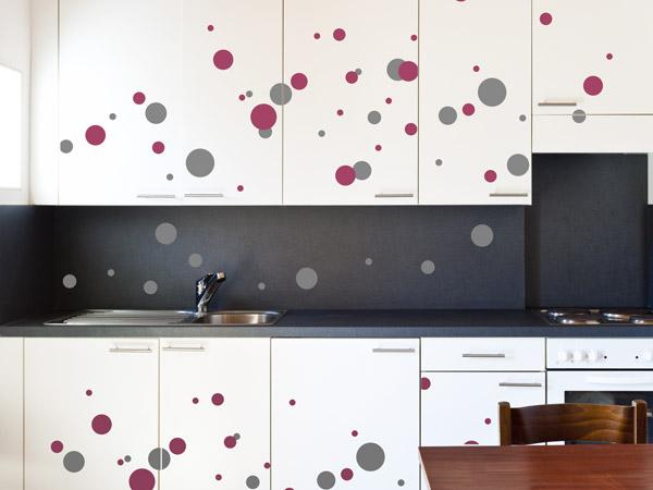 Kreative Klebepunkte - Wandtattoo-Dots als Deko Punkte