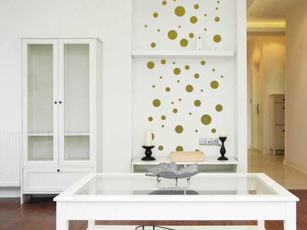 kreative klebepunkte wandtattoo dots als deko punkte. Black Bedroom Furniture Sets. Home Design Ideas