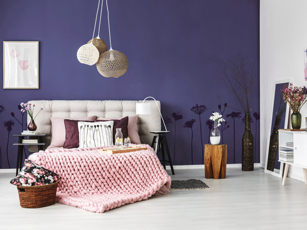 violette w nde und dekoration ideen tipps von. Black Bedroom Furniture Sets. Home Design Ideas