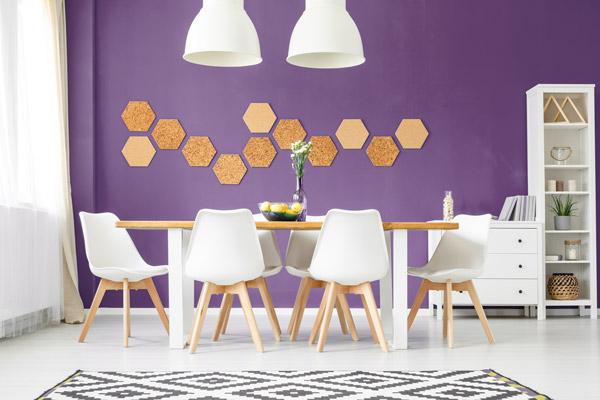 violette w nde und dekoration ideen tipps von. Black Bedroom Furniture Sets. Home Design Ideas