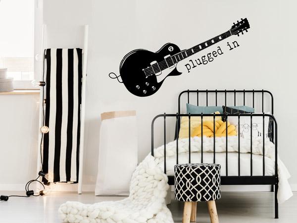 Jungenzimmer Ideen Gestaltung Musik Gitarre
