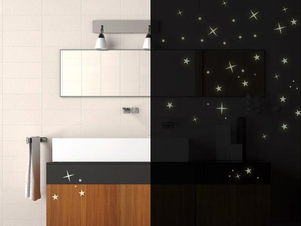 Leuchtsterne Kinderzimmer | Leuchtsterne Leuchtende Sterne Zum Aufkleben