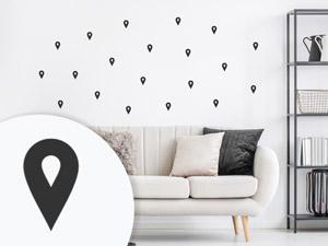 landkarten als wandtattoos deutschland frankreich weltkarte und co. Black Bedroom Furniture Sets. Home Design Ideas