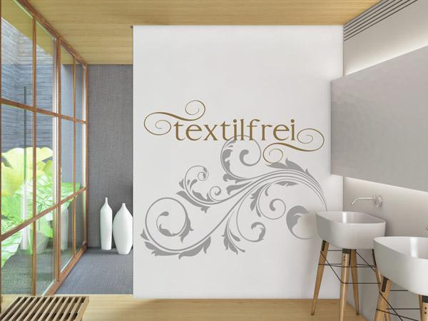 Wandtattoo Textilfrei. Kreative Dekoration Für Die Sauna: Textilfrei  Wandtattoo