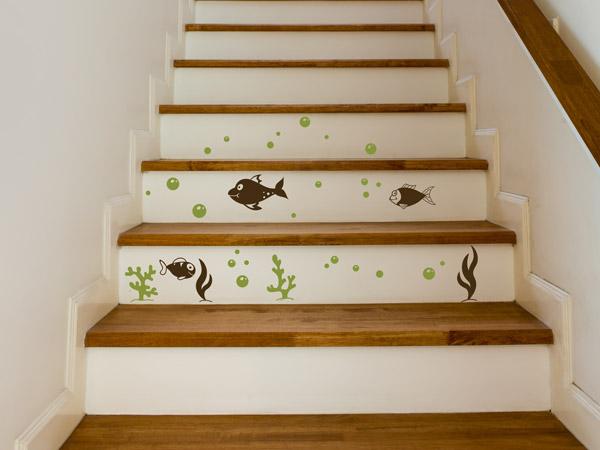 Treppenstufen Bekleben Mit Wandtattoos