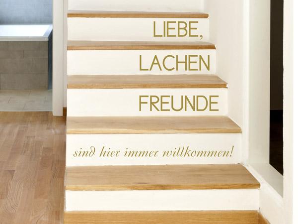 Relativ Treppenstufen bekleben mit Wandtattoos GG14