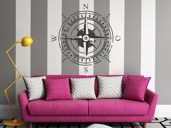Streifen an die Wand malen - Ideen für gestreifte Wände