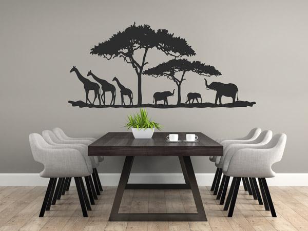 reiseb ro dekorieren mit wandtattoos ideen und tipps. Black Bedroom Furniture Sets. Home Design Ideas