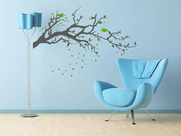 farbtrend - grün und blau kombinieren - tipps und ideen - Wandtattoo Kinderzimmer Grun