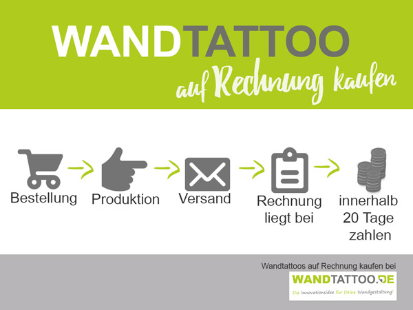 wandtattoo auf rechnung bestellen. Black Bedroom Furniture Sets. Home Design Ideas