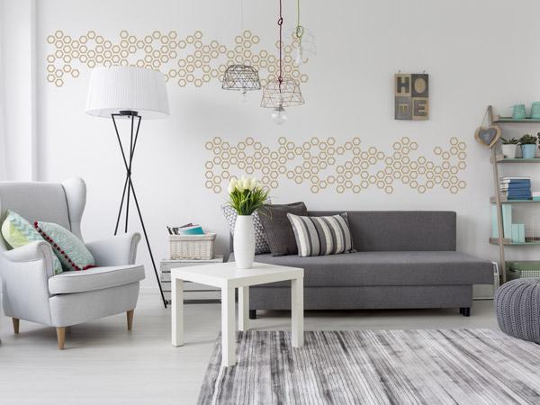 Dekorative Muster An Der Wand   Moderne Deko Ideen Für Die Ferienwohnung