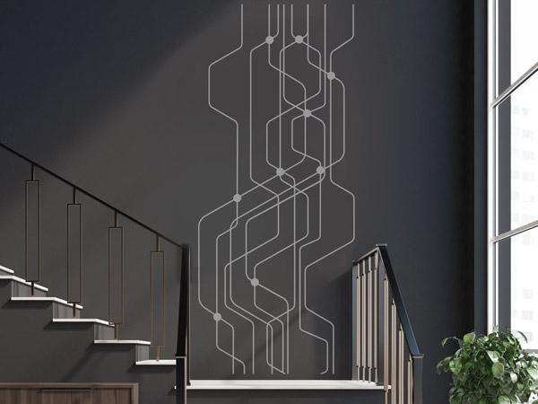 Treppenhaus technische zeichnung  Wandtattoo im Treppenhaus - Auf Treppe, Wand & Co.