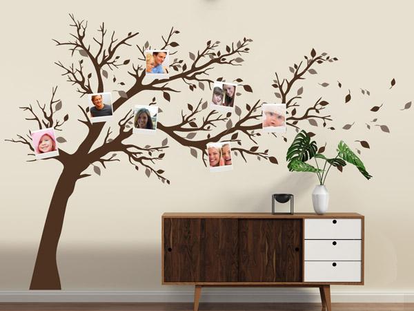 wandtattoos mit bilderrahmen kombiniert neue wandideen. Black Bedroom Furniture Sets. Home Design Ideas