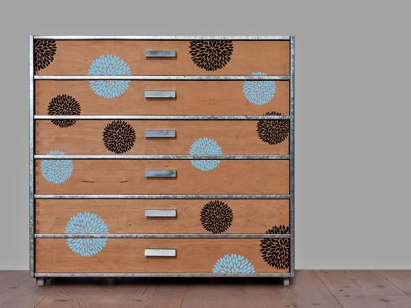 Schrank verschönern  Schrank mit Wandtattoo bekleben - tolle Ideen und Tipps