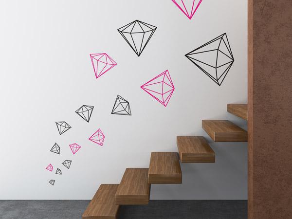 Wandtattoo Diamanten Set Beim Aufstieg Im Treppenhaus