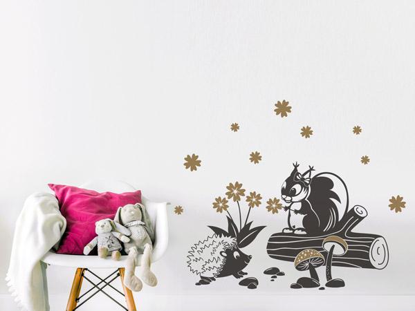Kinderzimmer Mit Sussen Tieren Dekorieren Wandtattoo Ideen