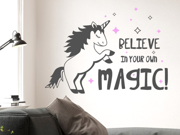 Wandtattoo Einhorn Your own magic