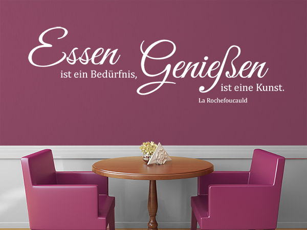wandtattoo im restaurant ansprechende ideen und tipps. Black Bedroom Furniture Sets. Home Design Ideas