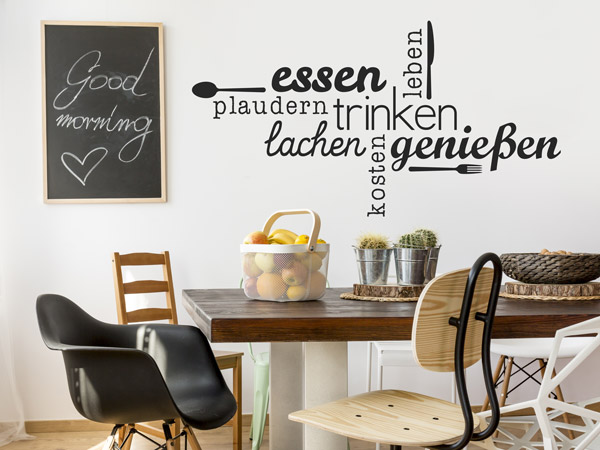 geschenke f r kochbegeisterte hobbyk che wandtattoos rund ums kochen. Black Bedroom Furniture Sets. Home Design Ideas