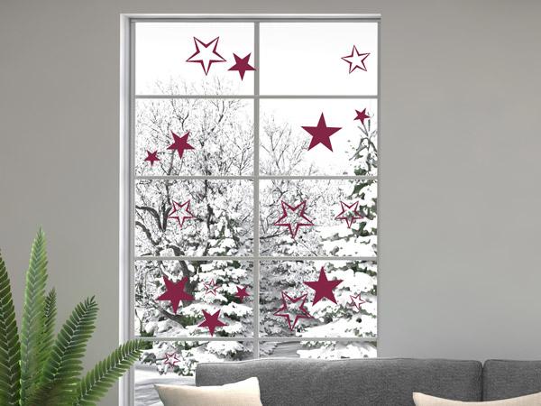 Winterliche Weihnachtsbilder.Wandtattoos Als Selbstklebende Fensterbilder Zu Weihnachten