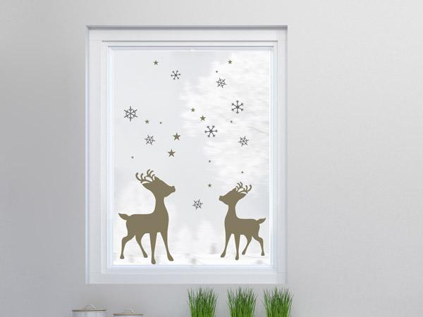 Fensterfolie Winterlandschaft neu Fensterbild Weihnachten