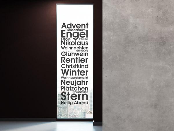 Weihnachten Wandtattoos | Weihnachtsdeko für Wände | WANDTATTOO.DE