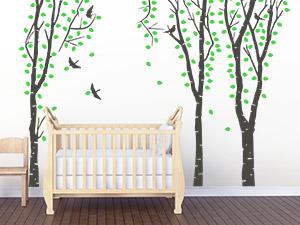 wandtattoo zur geburt schenken mit datum name. Black Bedroom Furniture Sets. Home Design Ideas