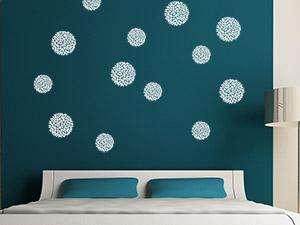 wandtattoos mit thema - ideen für die themendekoration, Schlafzimmer design