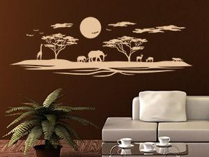 Wandtattoo für afrikanische Dekoration