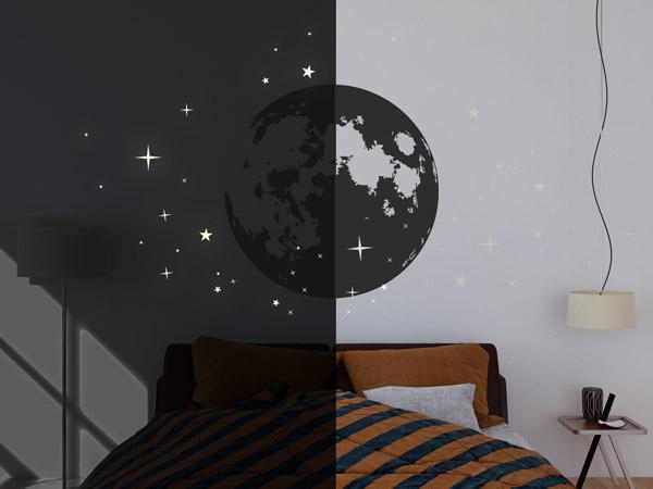 leuchtsterne leuchtende sterne zum aufkleben. Black Bedroom Furniture Sets. Home Design Ideas