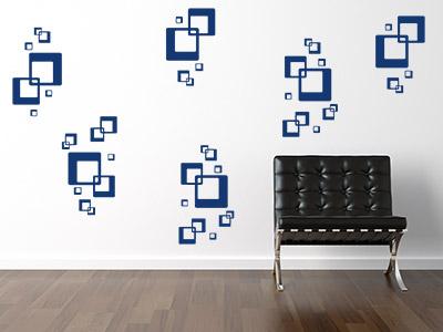Wand Muster wandtattoos als muster ideen für kreative wandmuster