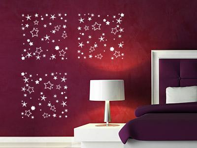 wandtattoos als muster ideen f r kreative wandmuster. Black Bedroom Furniture Sets. Home Design Ideas
