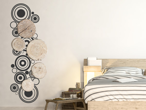 pimp your wandtattoo wandmotive einfallsreich stylen mit. Black Bedroom Furniture Sets. Home Design Ideas