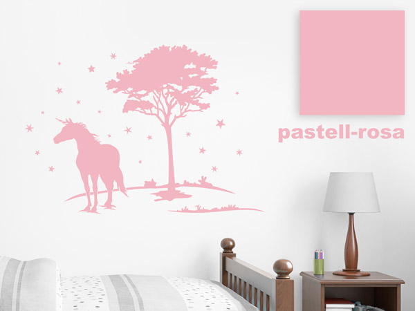 Wandtattoo in Pastell-Rosa