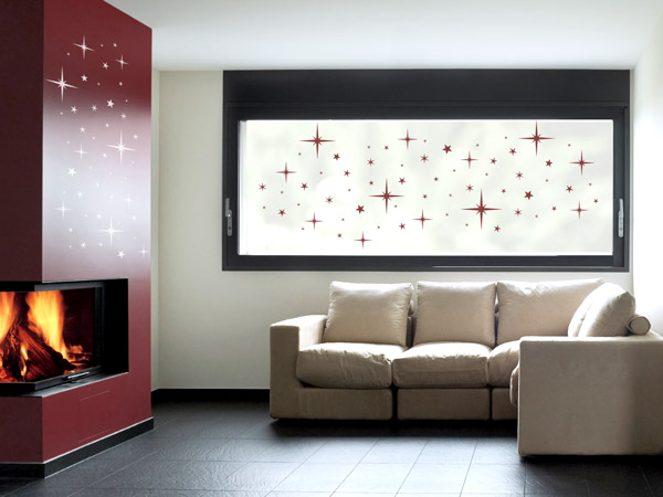 wandtattoos als weihnachtsdeko w nde und fenster. Black Bedroom Furniture Sets. Home Design Ideas