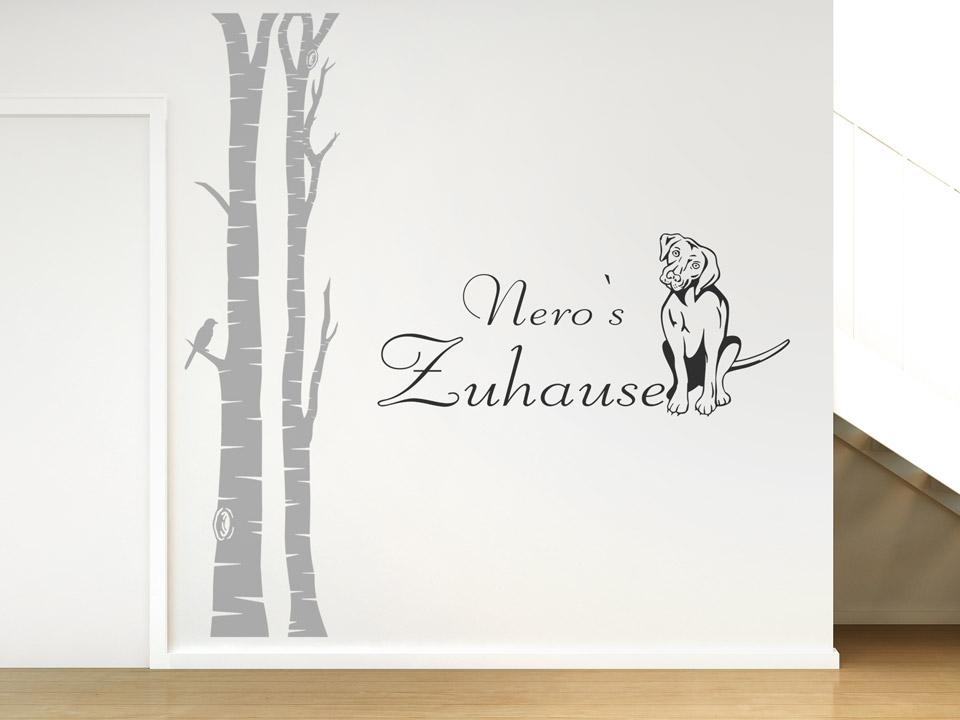 dekoration für hundefans - wandtattoos rund um den hund, Wohnzimmer dekoo