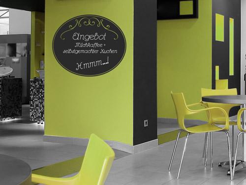 wandtattoo im caf tipps ideen f r die dekoration. Black Bedroom Furniture Sets. Home Design Ideas