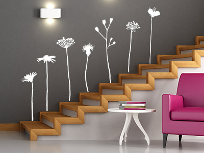 wandtattoo im treppenhaus auf treppe wand co. Black Bedroom Furniture Sets. Home Design Ideas