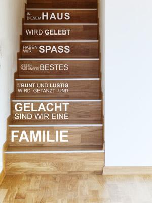 Wandtattoo im Treppenhaus - Auf Treppe, Wand & Co.