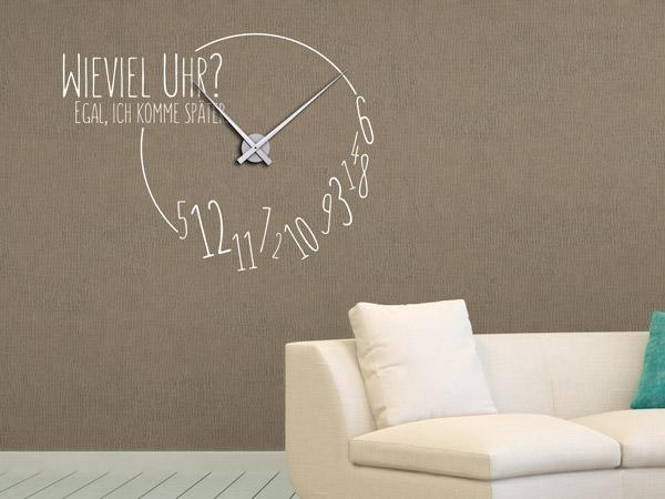 Wandtattoos als große Wanduhren - Moderne Uhren mal anders