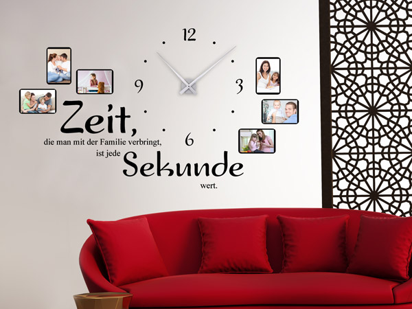 top kreative kombination aus wanduhr und fotorahmen with groe uhren fr die wand - Bergroe Wanduhr